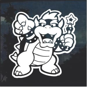 Bowser v2 Window Decal Sticker