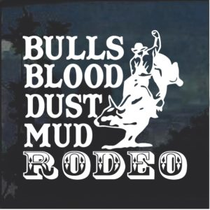 Bulls Blood Dust Mud Rodeo Window Decal Sticker
