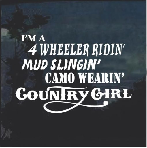 Camo Wearin Country Girl Window Decal Sticker