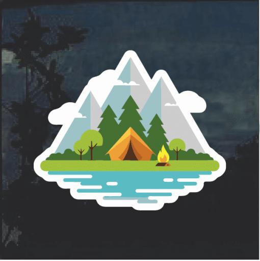 Camp Life Window Decal Sticker