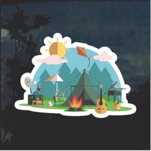 Camping Campsite Decal Sticker