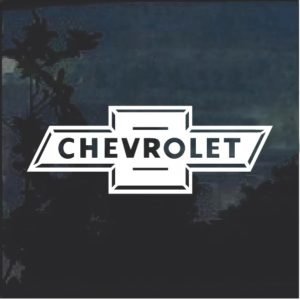 Chevy Bowtie Classic Window Decal Sticker