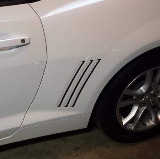 Chevy Camaro rear grill vent scoop Decals