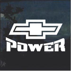 Chevy Power v2 Window Decal Sticker