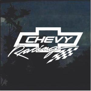 Chevy Racing 1 Window Decal Sticker
