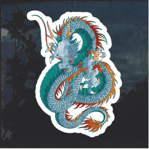 Chinese Dragon Window Decal Sticker