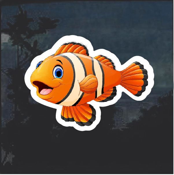 Clown Fish cartoon Decal Sticker