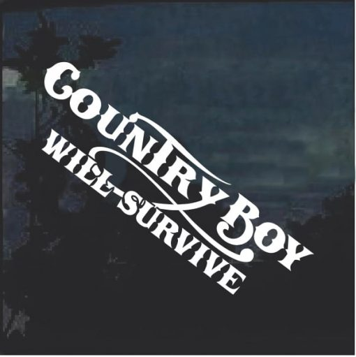 Country Boy Will Survive v2 Window Decal Sticker