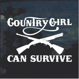 Country Girl Can Survive v2 Window Decal Sticker