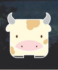 Cow Emoji Decal Sticker