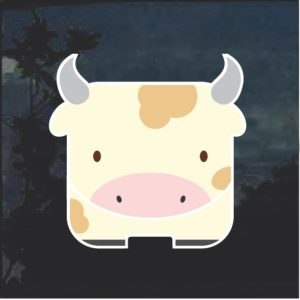 Cow Emoji Decal Sticker