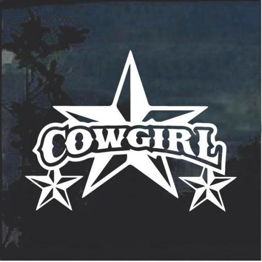 Cowgirl Star 2 Window Decal Sticker