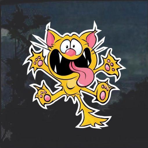 Crazy Cat Window Decal Sticker