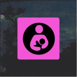 Crunchy Mom Breastfeeding Decal Sticker