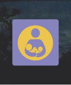Crunchy Mom Tandem Breast Feeding Decal Sticker