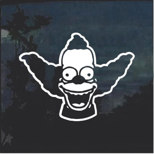 Crusty the Clown Window Decal Sticker