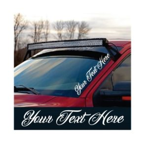 Custom Text Side Windshield Banner Decal Sticker
