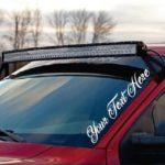 Custom Text Windshield Side Banner Decal Sticker