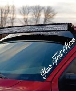 Custom Text Side Windshield Banner Decal Sticker
