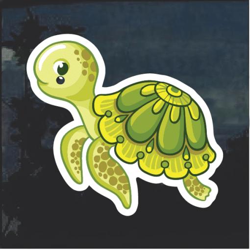 Cute Turtle Window Decal Sticker