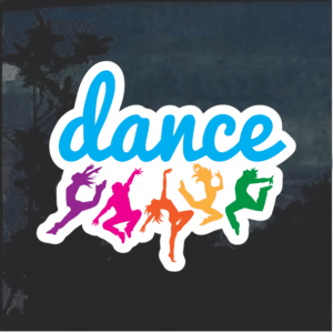 Dance Dancing Color Window Decal Sticker