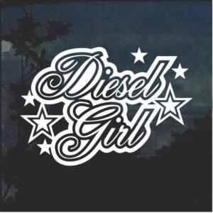 Diesel Girl 2 Window Decal