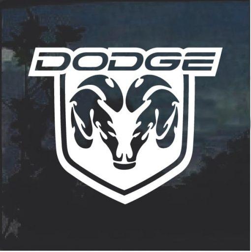 Dodge Shield Window Decal Sticker