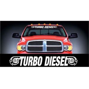 Dodge Turbo Diesel Windshield Banner Decal Sticker