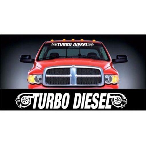Dodge Turbo Diesel Windshield Banner Decal Sticker