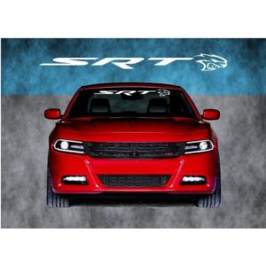 Dodger Charger SRT Hellcat Windshield Banner Decal Sticker