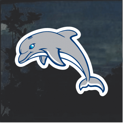 Dolphin jumping Window Decal Sticker
