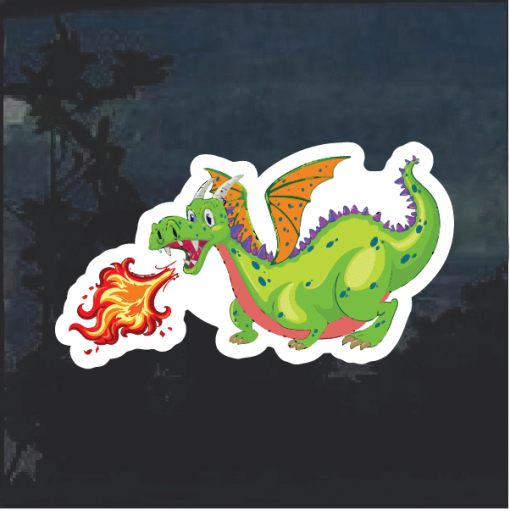 Dragon Green Window Decal Sticker