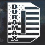 Duramax D Flag Window Decal Sticker