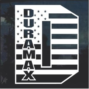 Duramax D Flag Window Decal Sticker