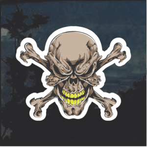 Evil Skull Color Window Decal Sticker