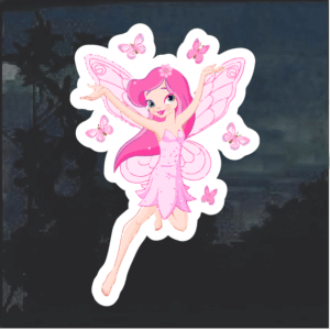 Fairy Pink Color Window Decal Sticker