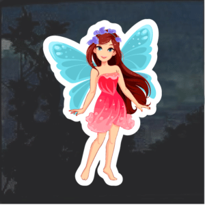 Fairy blue wings color Window Decal Sticker