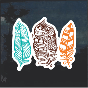 Feathers Window Decal Sticker