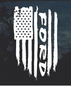 Ford Truck Weathered Flag Decal Sticker