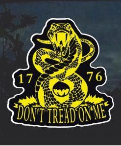 Gadsden Flag Don't tread on me Snake Window Decal Sticker