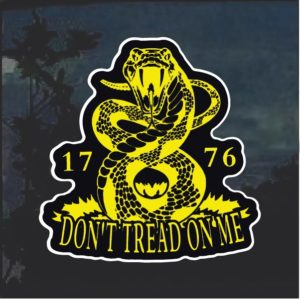 Gadsden Flag Don't tread on me Snake Window Decal Sticker