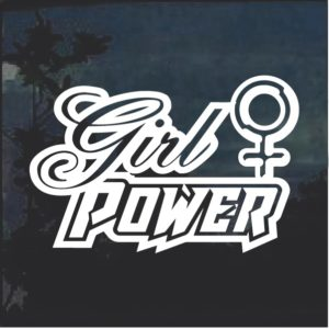 Girl Power v1 Window Decal Sticker