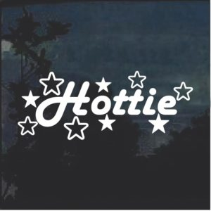Hottie Window Decal Sticker