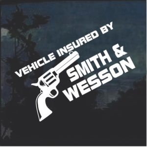 Insured by Smith & Wesson Window Decal Sticker