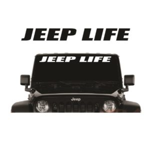 Jeep Life Block Windshield Banner Decal Sticker