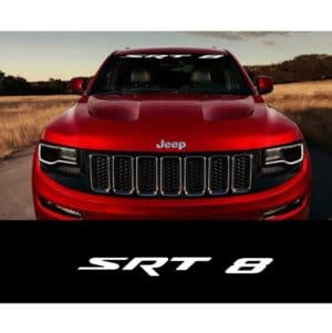Jeep Srt8 Windshield Banner Decal Sticker