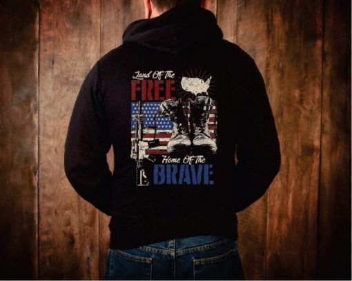 Land of the Free Military Hoodie