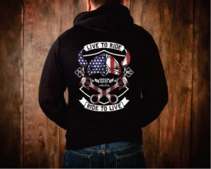 Live to Ride Motorcycle Hoodie