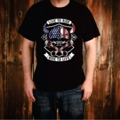 Live to Ride Motorcycle Tee Shirt