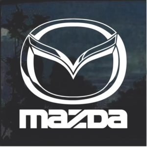 Mazda emblem Window Decal Sticker